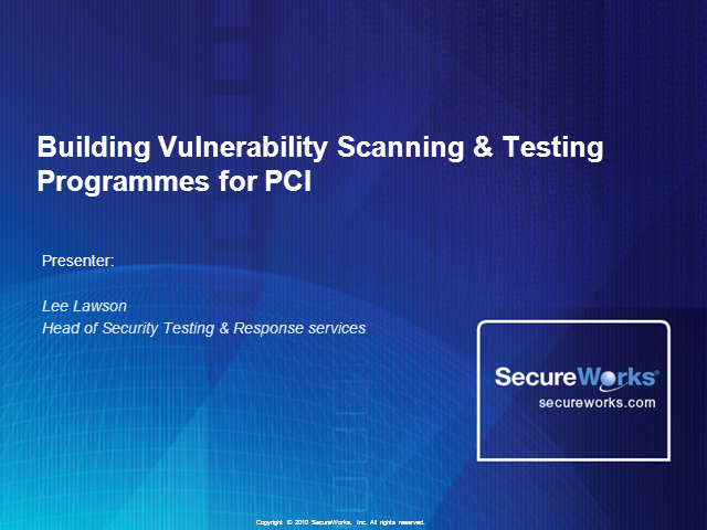 Building Vulnerability Scanning & Testing Programmes for PCI