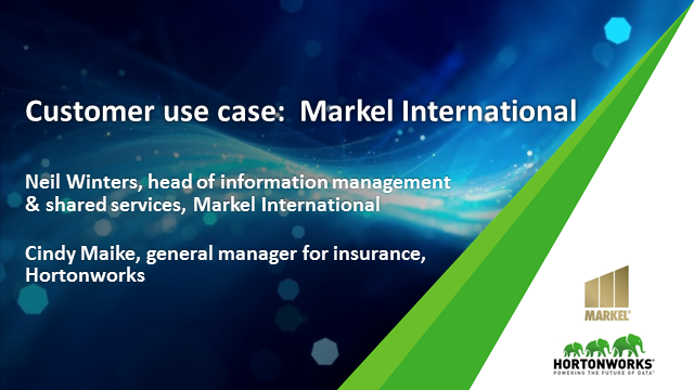 Markel International: A Hortonworks Case Study in Insurance