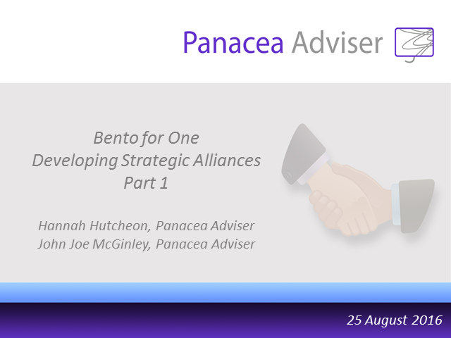 Bento for One Webcast - Developing Strategic Alliances Part 1