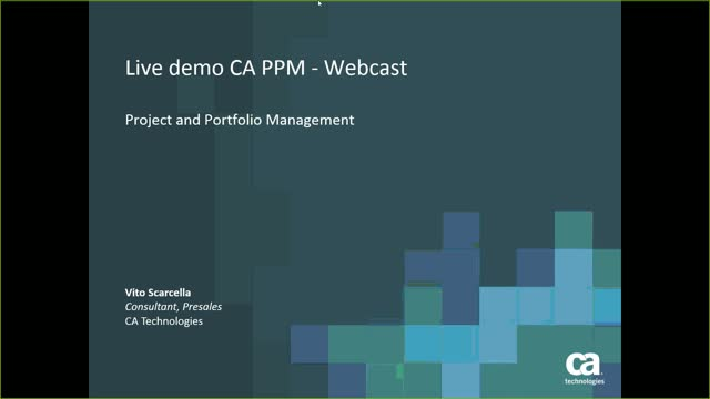 CA PPM Overview Presentaion
