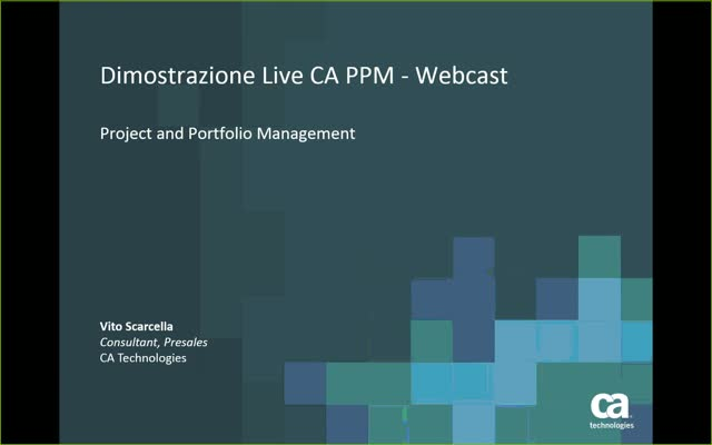 CA PPM Overview Presentaion (Italian version)