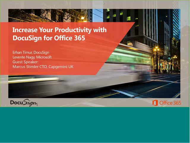 Increase Productivity with DocuSign + O365