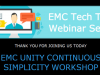 Tech Talk: EMC Unity Continuous Simplicity Workshop