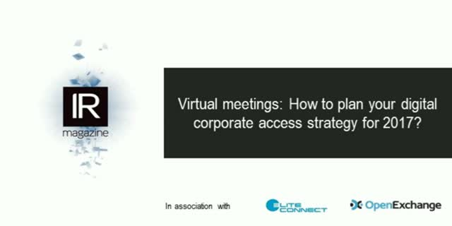 Virtual meetings: How to plan your digital corporate access strategy for 2017