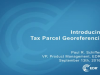 Introducing Tax Parcel Georeferencing