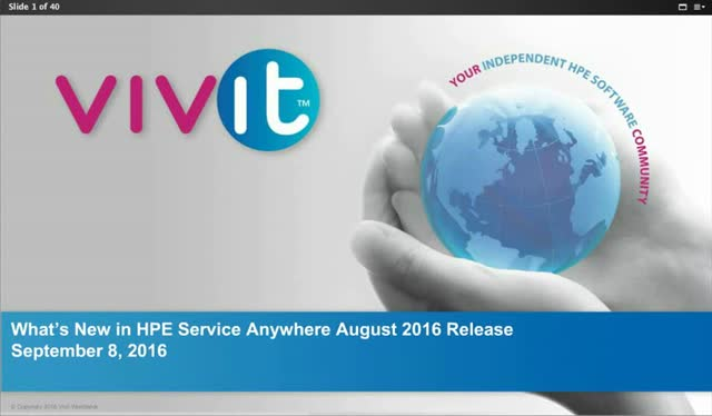 What's New in HPE Service Anywhere August 2016 Release
