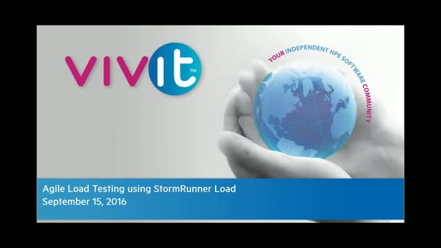 Agile Load Testing using StormRunner Load