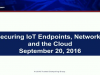 Securing IoT Endpoints, Networks and the Cloud