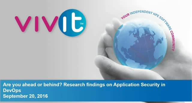 Are you ahead or behind? Research findings on Application Security in DevOps