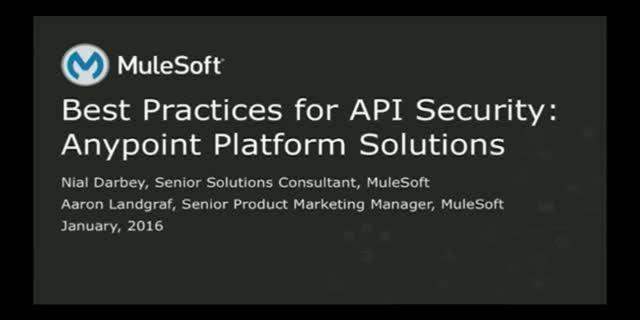 API Security Best Practices