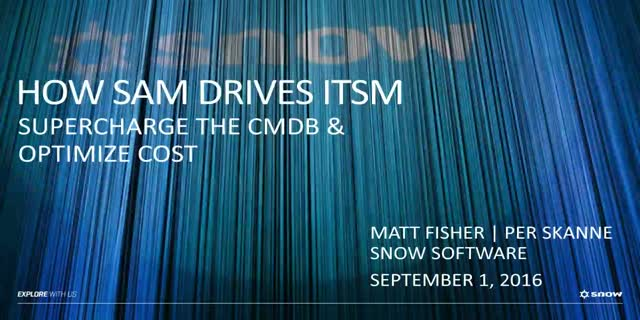 Drive ITSM improvements with SAM intelligence