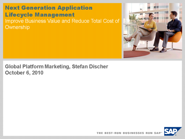 Next Generation Application Lifecycle Management