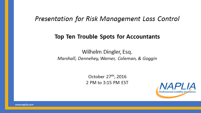 Top Ten Trouble Spots for Accountants