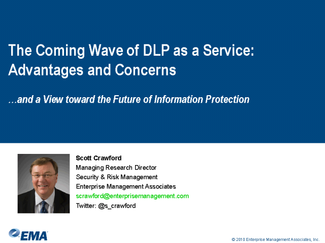 The Coming Wave of DLP as a Service: Advantages and Concerns