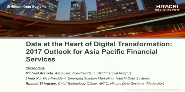 Digital Transformation: 2017 Outlook for Asia Pacific Financial Services