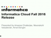 Informatica Cloud Fall 2016 - R26 Release