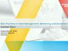 Best Practices in Data Management, Mastering and Governance