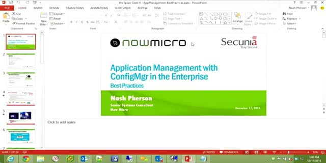 Application Management with ConfigMgr in the Enterprise