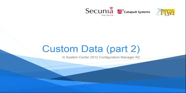 Custom Data Gathering and Use with ConfigMgr, Part 2