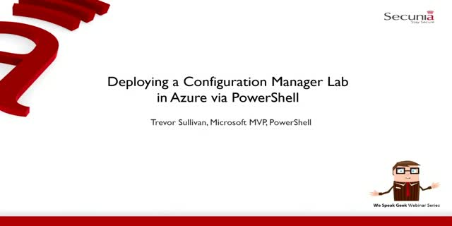Deploying a Configuration Manager Lab in Azure via PowerShell