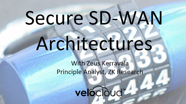 Secure SD-WAN Architectures