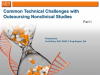Common Technical Challenges with Outsourcing Nonclinical Studies