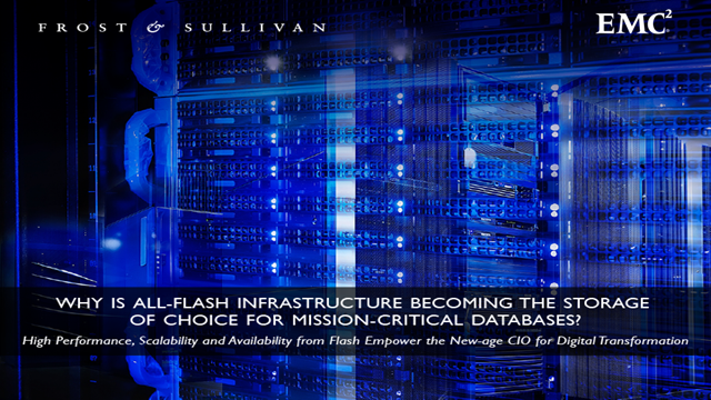 Why is All-flash Infrastructure Becoming the Storage of Choice?