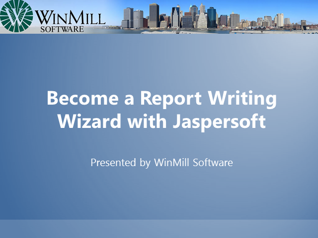 Become a Report Writing Wizard with Jaspersoft