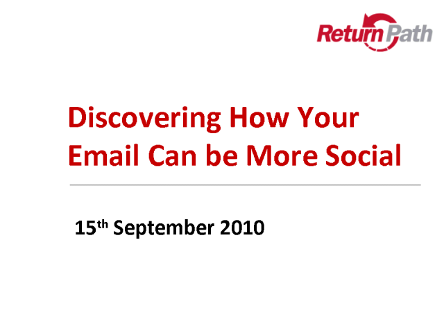 Discovering How Your Email Can Be More Sociable