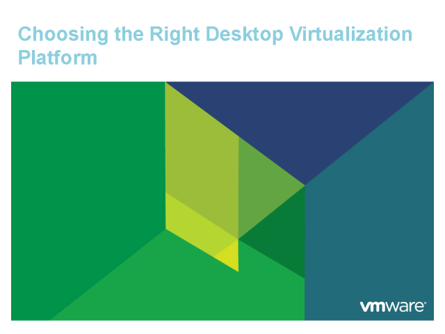 VMware View 4 - Come See The Best View 2