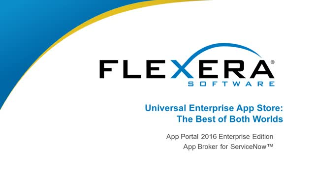 Universal Enterprise App Store: The Best of Both Worlds