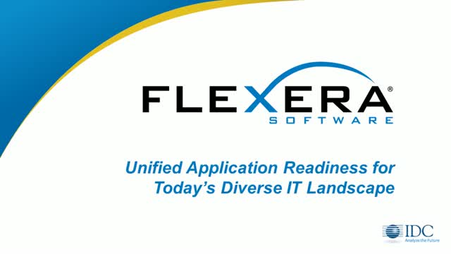 Unified Application Readiness for Today's Diverse IT Lnadscape
