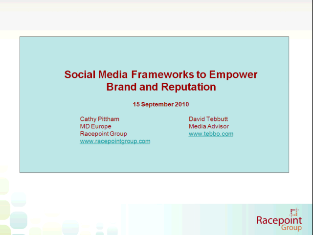 Emerging Social Media Frameworks to Empower Brand & Reputation