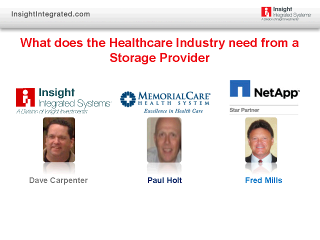 What Does the Healthcare Industry Need from a Storage Solution?