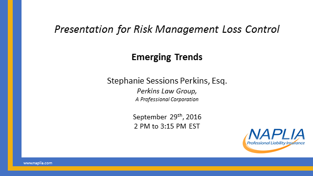 Risk Management Loss Control - Emerging Trends