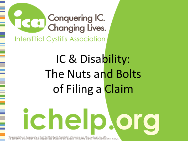 IC & Disability: The Nuts and Bolts of Filing a Claim