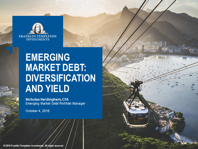 Emerging Market Debt: Diversification and Yield