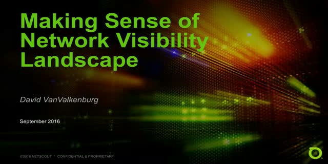 Making sense of network visibility landscape