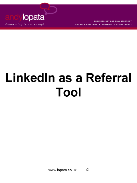 Four Steps to Using LinkedIn as a Referral Tool