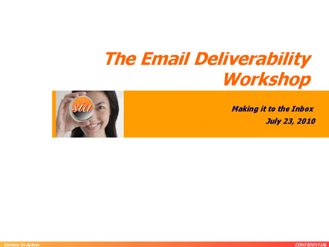 The Email Deliverability Workshop
