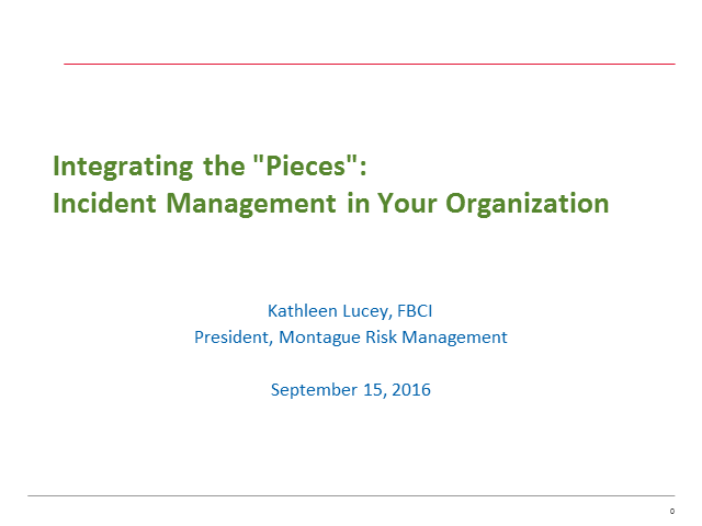 Integrating the 'pieces' of incident management in your organization