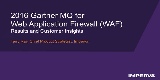 Gartner MQ for Web App Firewall