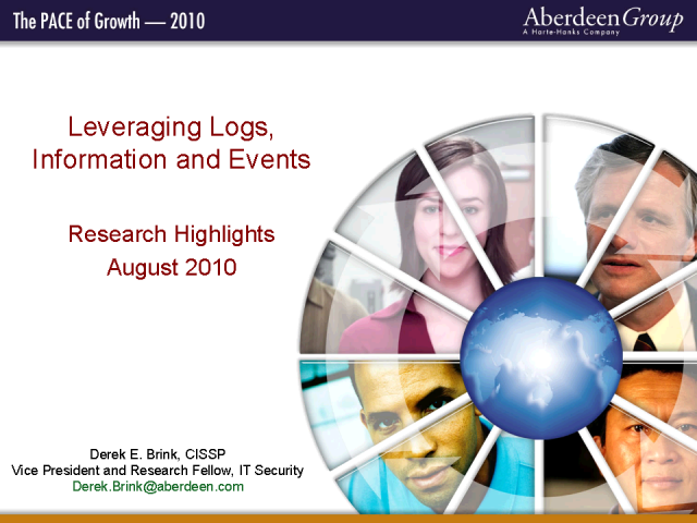 Leveraging Logs, Information and Events