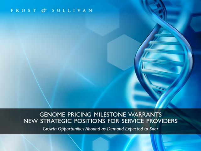 Genome Pricing Milestone Warrants New Strategic Positions for Service Providers