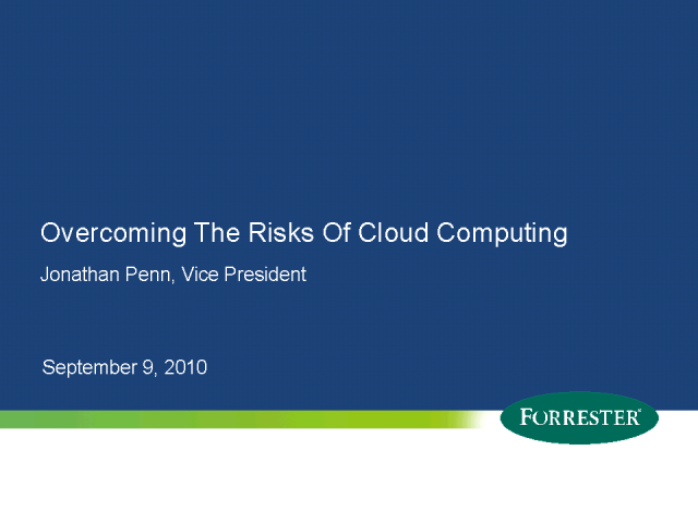 Overcoming the Risks of Cloud Computing