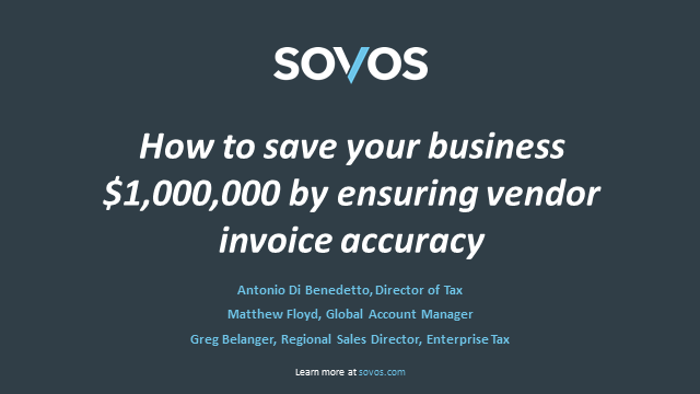 How to save your business $1,000,000 by ensuring vendor invoice accuracy