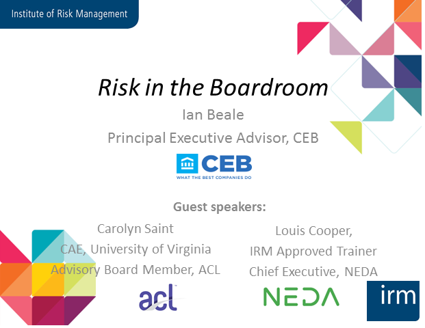 Risk in the Boardroom