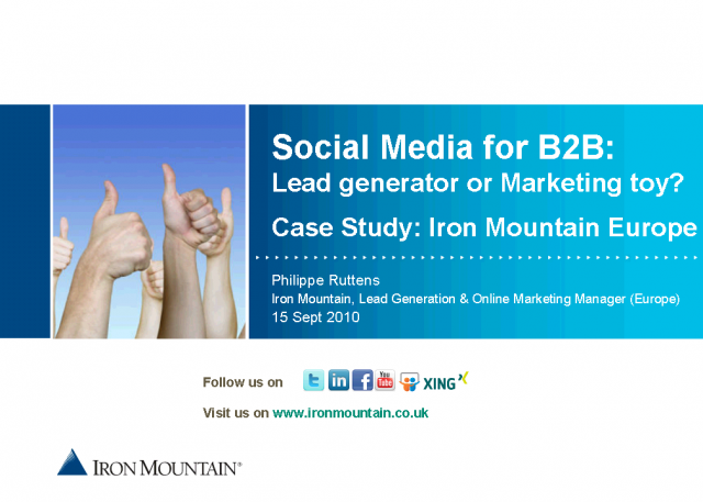 Social Media for B2B:  Lead Generator or Marketing Toy?