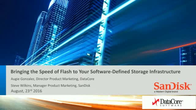 Bringing the Speed of Flash to Your Software-Defined Storage Infrastructure