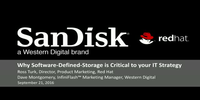 Why software-defined storage is critical to your IT strategy